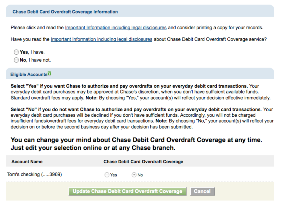 CHASE opt-in page (part 2)